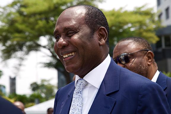 Paul Obambi, président de la chambre de commerce de Brazzaville.